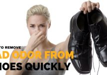 how to remove odour from shoes