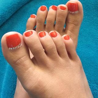 orange rhinestone design
