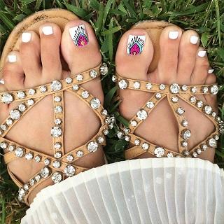 tribal toenail art