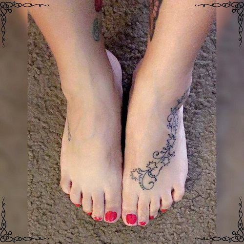 star foot tattoo