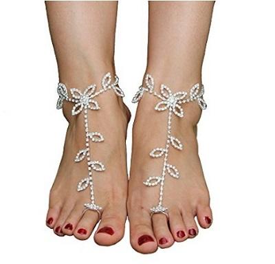 Rhinestone Crystal Ankle Bracelet Crochet Anklets
