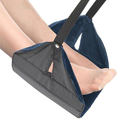Foot Rest Adjustable Foot Stools Portable Hammock for Office Home Travel Flight