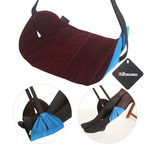 Travel Adjustable Foot Rest Stand Portable Feet Hammock flight Footrest travel Accessories plane train home and office